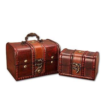 Cajas Madera Vintage Cofre Del Tesoro, Organizador De ...