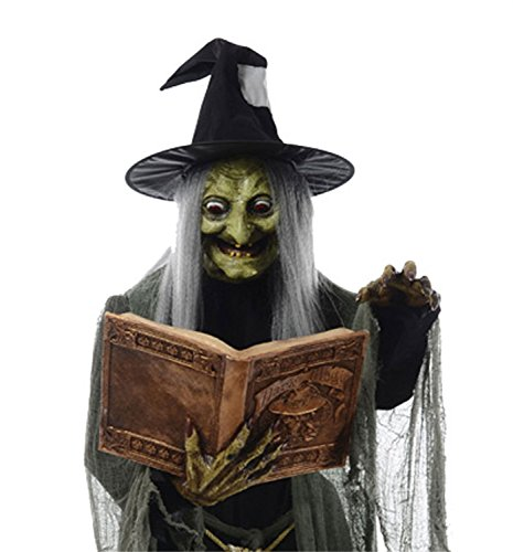 Life Size Animated SPELL SPEAKING WITCH Haunted House Halloween Prop Decoration -