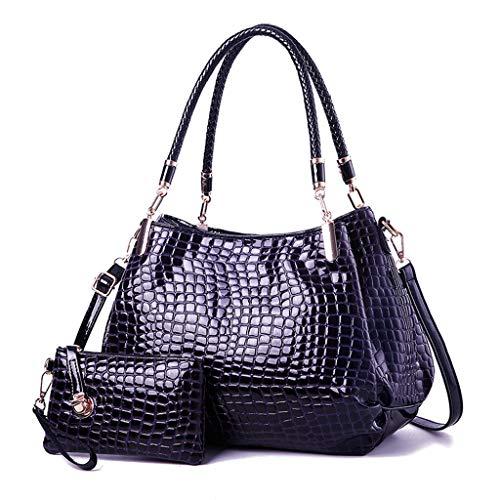 (Lefthigh 2Pcs Handbag Women's Single Shoulder Messenger Bags+Crossbody Bag)
