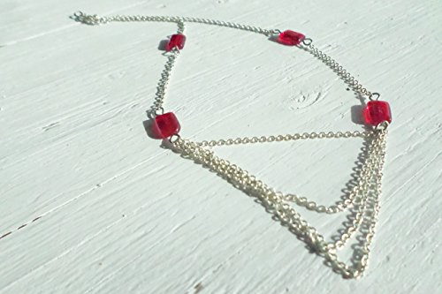 Red czech glass chain - Costume Ideas Easy Hippie