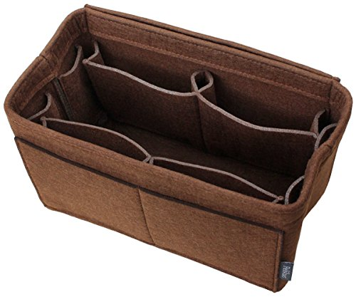 Pelikus Felt Purse & Tote Organizer Insert/Multi-Pocket Handbag Shaper (Medium, Chocolate – ()