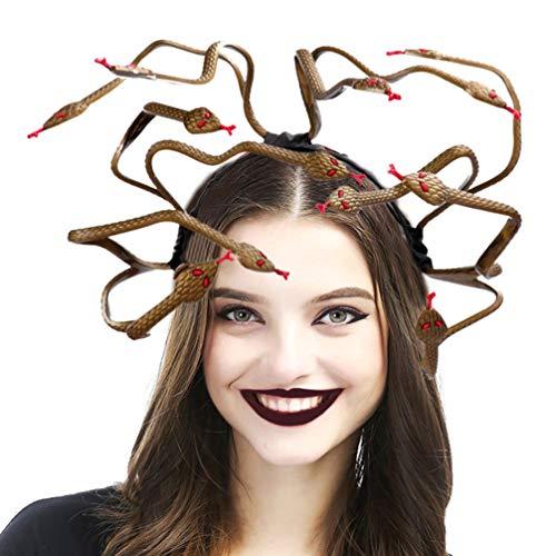Medusa Costume Ideas (Holibanna Medusa Cosplay Costume Headband Halloween Headdress Dress-up Headpiece for Carnival Mardi Gras Masquerade Party)