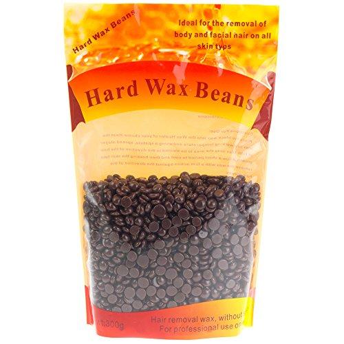 GoodPing Hair Removal Hard Wax Beans for Men Women Full Body Hot Film Pearl Hard Wax 300g (Chocolates)