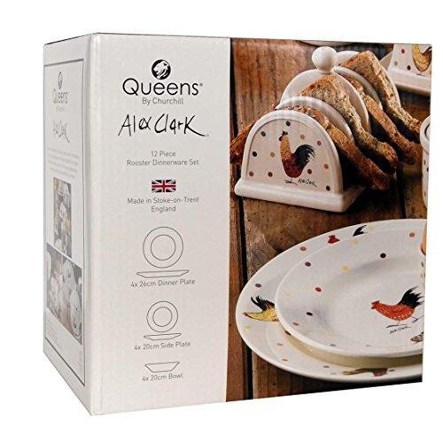 Churchill Alex Clark Dinnerware 12 Piece Set, Made In England (Dinnerware Chicken Pattern)