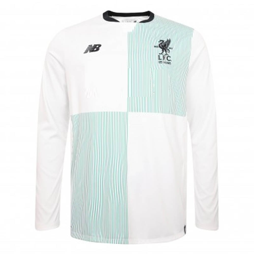 2017-2018 Liverpool Away Long Sleeve Shirt (No Sponsor) B076CG35JBWhite Small 35-37\