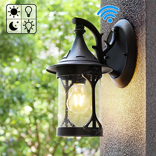 Best outdoor lighting fixtures wall mount black for 2020