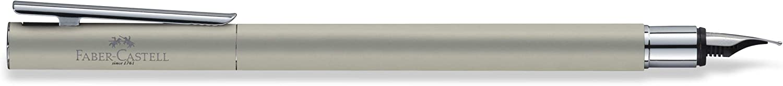 color negro mate Faber-Castell NEO Slim Pluma estilogr/áfica metal color acero mate