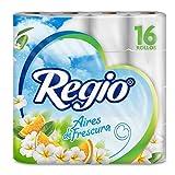 Regio Papel Higiénico, 250 Hojas Dobles, Aroma Cítrico y Floral, 16 Rollos
