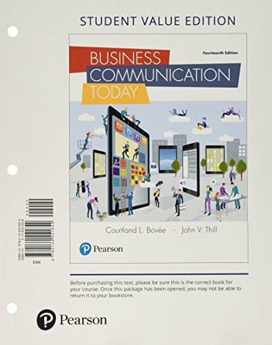 Business Communication Today, Student Value Edition (14th Edition)