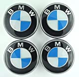 XtremeAmazing 4X 68mm Wheel Center Caps for BMW Blue/Silver(White)
