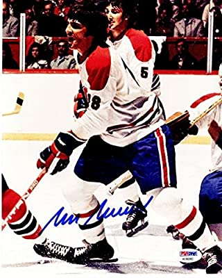 Serge Savard Autographed Montreal Canadiens 8x10 inch Photo PSA/DNA Authentic