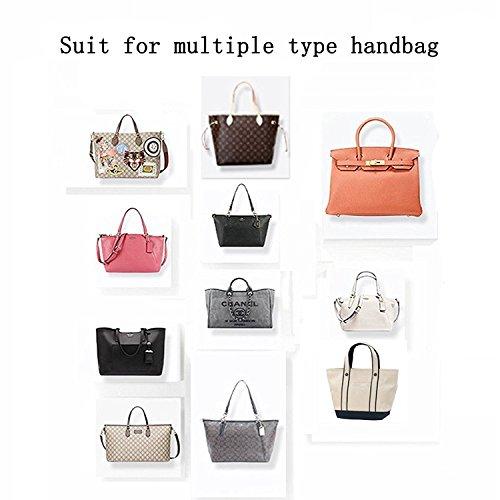 Insert Bag Organizer, Bag in Bag for Handbag Purse Organizer (Medium, Black) by favour (Image #6)