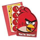 Angry Birds Invitations - Party Supplies - 8 per Pack by SmileMakers