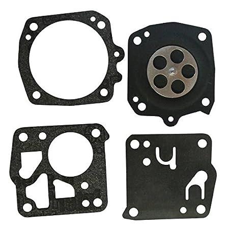 Kit de reparación de carburador, juntas y membranas, para Husqvarna 65, 61, 162, 266, 268, 272, 480, 181, 281, 288, 165RX, 185K, 265RX, H181, H2101, ...
