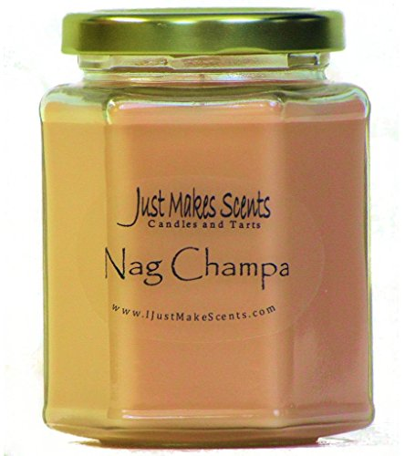 Just Makes Scents Nag Champa Scented Blended Soy Candle | Soothing Nag Champa Fragrance | Hand Poured in the USA