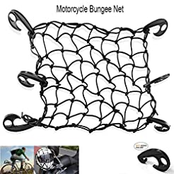 LATIT Motorcycle Cargo Nets Bicycle Bung...