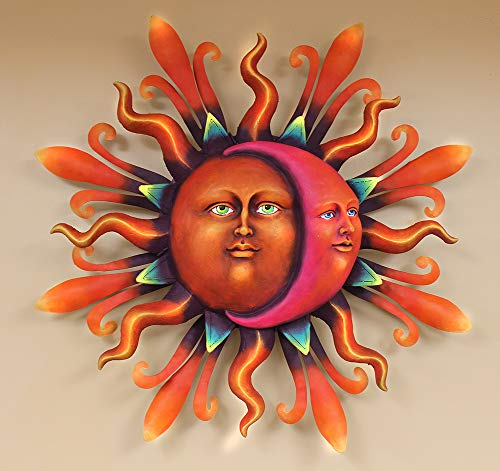 Wall Art, Mexico Airbrushed Sun face XLG 33