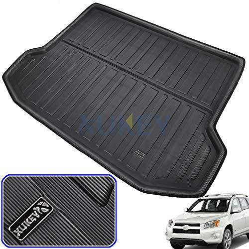 (XUKEY for Toyota RAV4 RAV-4 2006-2012 Cargo Liner Boot Rear Trunk Mat Tray Floor Carpet Luggage Tray Mud Kick Pad Tailored)