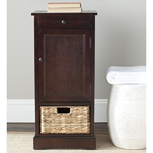 Safavieh American Homes Collection Raven Dark Cherry Tall Storage Unit - Distressed Cherry Finished Top