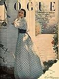 1948 Ad Vogue Magazine Vintage Summer Dress Gown