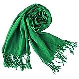 New Chic Fashion Multi-use Unisex Warm Cashmere Silk Solid Long Range Pashmina Shawl Wrap Scarf Emerald Green