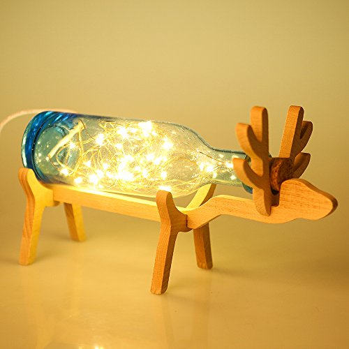 Balabella Night Light Lamp for Bedrooms / Living Room – Super Adorable Reindeer Shape Design & Traditional Glassblowing Craft – Pefect for Home Decor & Christmas Gifts (Sea - Glasses Glassblowing
