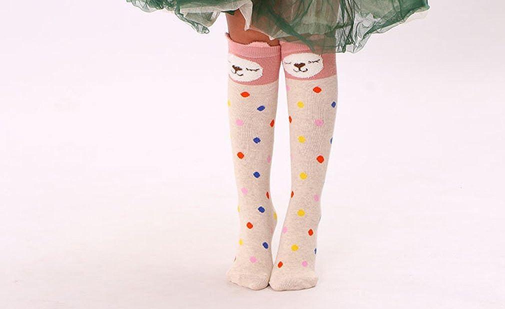 MZLIU Girl Lovely Over Knee High Stockings Cotton Socks Pack