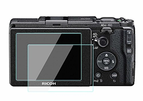 WH1916 Glass Screen Protector Foils Compatible for Ricoh GR II / GR2, Tempered Glass Film Anti-Bubble Anti-Scratch Anti-Finger for Ricoh grii gr2 DSLR Camera (2 Pack)