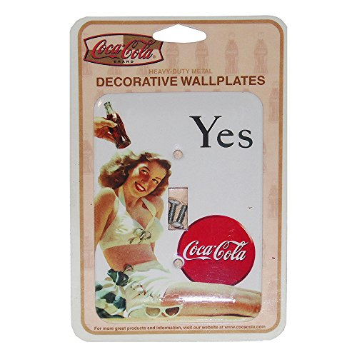 Metal Light Switchplate Cover - Yes Girl in White Bathing Suit Coca-Cola Single Switchplate Cover