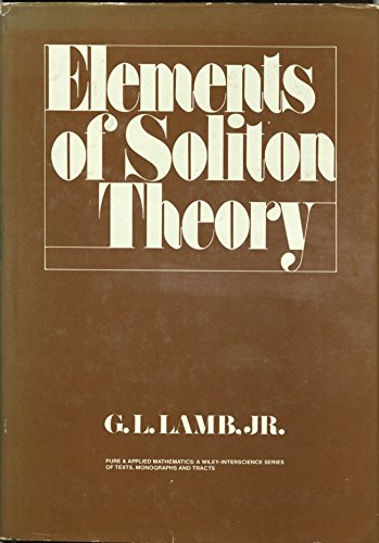 Elements of Soliton Theory (Pure & Applied Mathematics)