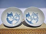 Japanese Shiba dog Blue Rice Bowl