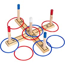 Tailgate 360 100-Percent Pine Wood Ring Toss Set , 8 Rings Included