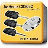 2 x Batterie VARTA CR2032 passend für Schlüssel Fernbedienung VW Skoda Seat Audi Funkschlüssel
