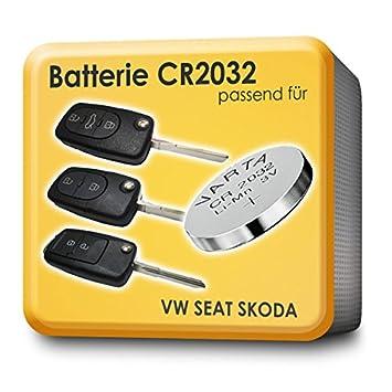 myshopx - 2 pilas VARTA CR2032, apropiadas para mandos a distancia de VW, Skoda, Seat y Audi: Amazon.es: Coche y moto