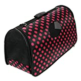 Starsource Soft Sided Pet Travel Carrier Folding Portable Tote Crate Carrier House Cage Bag,19.69