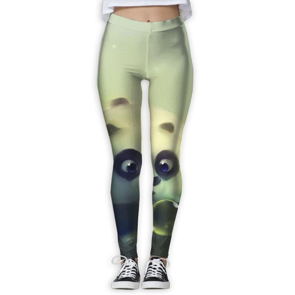 Girls Classic Dreamlike Panda Stretch Yoga Leggings Pants Gym Capri