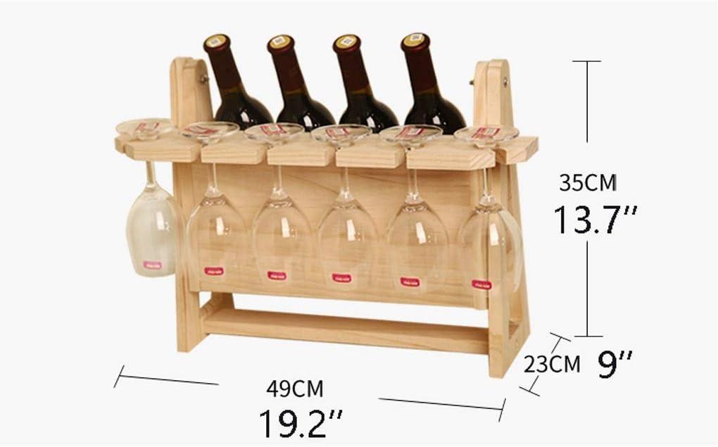 YBYB Wine Rack Wine Racks Countertop Wooden Wine Bottle Holders Creative Living Room Decorative Cabinet Red Wine Display Storage Gift Wine Holder (Color : F) C