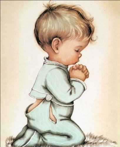 Little Boy Praying Paper Tole 3D Decoupage Crafdt Kit 8x10 - Paper Decoupage 3d