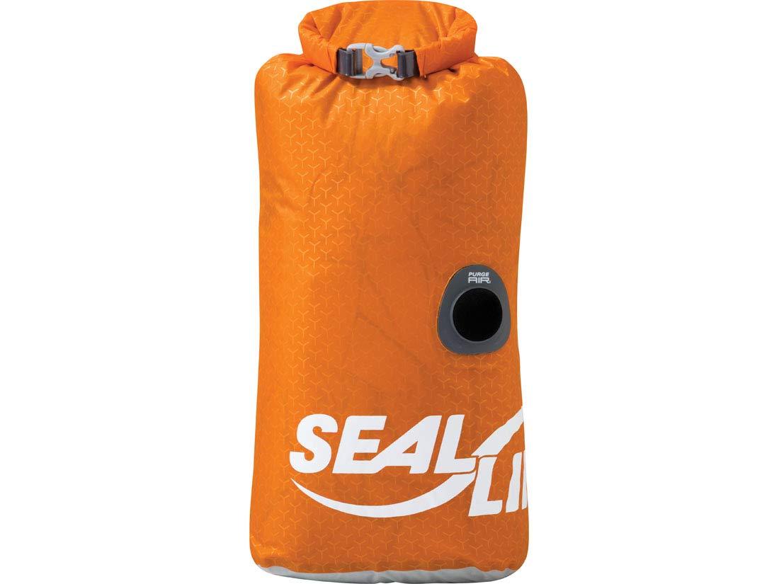 SealLine Blocker PurgeAir Dry Sack Waterproof Stuff Sack, Orange, 15-Liter by SealLine