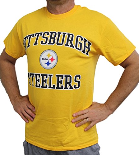 Pittsburgh Steelers Majestic NFL Heart & Soul III Men's Gold S/S T-Shirt
