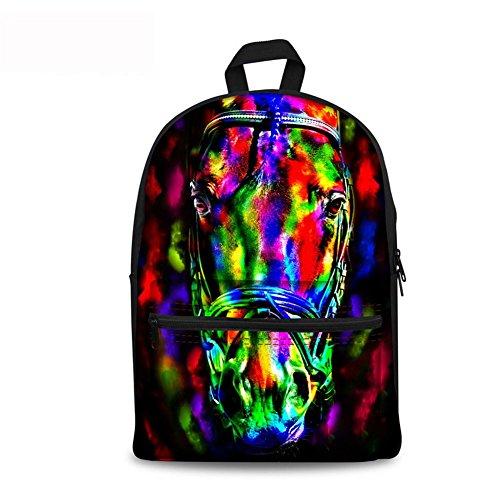 Unisex Fashion Casual School Travel Laptop Backpack Rucksack Daypack Tablet Bags (Orange) - 7