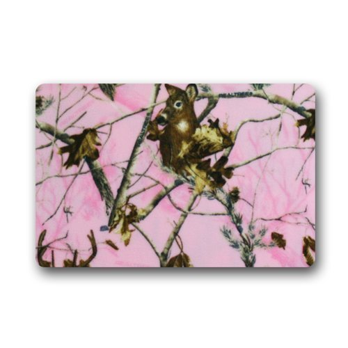 Sweetshow Custom Pink Realtree Camo Indoor/Outdoor Doormat Door Mat Decor Rug Non Slip Mats 23.6
