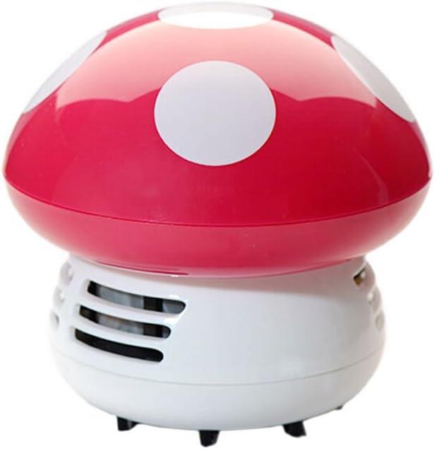 Vosarea Mini linda aspiradora de polvo de mesa portátil de dibujos animados inalámbrico de escritorio esquina barredora de polvo limpiadora de teclado (color de rosa): Amazon.es: Hogar