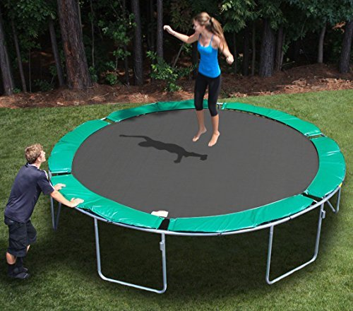 MAGIC CIRCLE 13.6 FT ROUND TRAMPOLINE (No Safety Cage) by KIDWISE (Image #2)