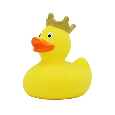 Lilalu 8 x 8 cm/50 g Collector and Baby Crown Rubber Duck Bath Toy (Yellow): Toys & Games