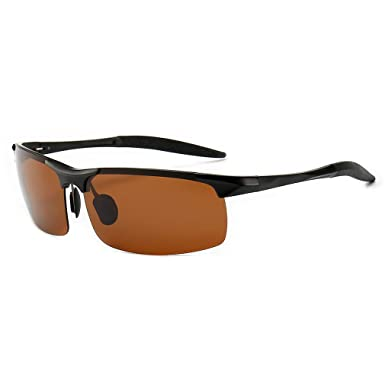 fe7fd1c9624 SUNGAIT Men s HD Polarized Sunglasses for Driving Fishing Cycling Running  Metal Frame UV400 (Black Frame