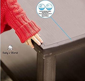 Babys World Kit de protection des coins et des coins pour b/éb/é 8 coins 6 m Protection des bords en caoutchouc souple Blanc