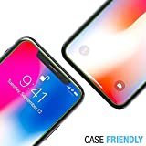 FlexGear iPhone X XS Glass Screen Protector [Coverage+] Premium Clear, Designed for iPhone X/XS (4-Pack)