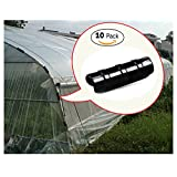 VISNU f32 ABS Snap Clamp for Greenhouse 1in PVC Pipe White 10 per Bag