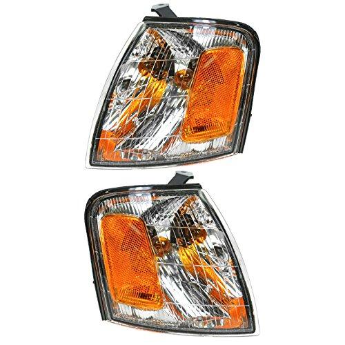 Side Marker Parking Turn Signal Corner Lights Pair Set for 98-99 Avalon